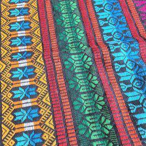 Guatemala pattern woven cotton fabric.